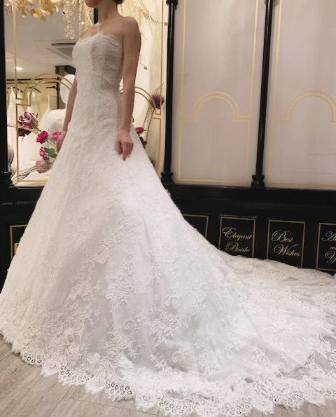 総レースが贅沢なINES DI SANTO(イネスディサント)のドレスでクラシカルウエディングを