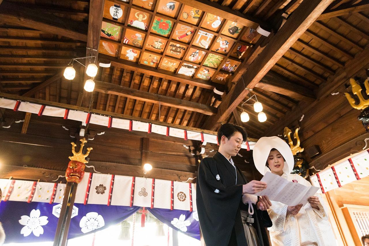 櫛田神社 白無垢 神社挙式 JUNO