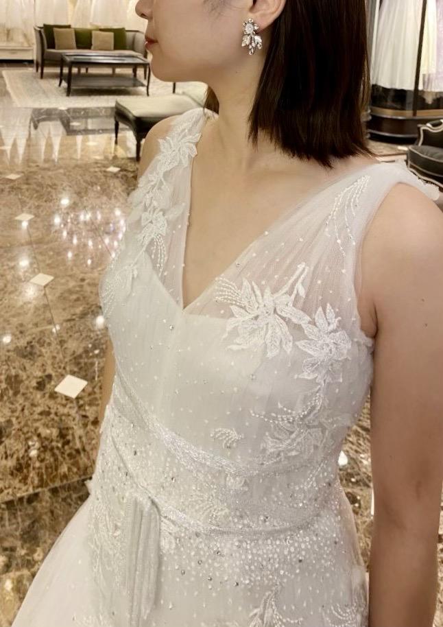MARCHESA(マルケーザ)のクチュール感溢れるロマンティックなウエディングドレス
