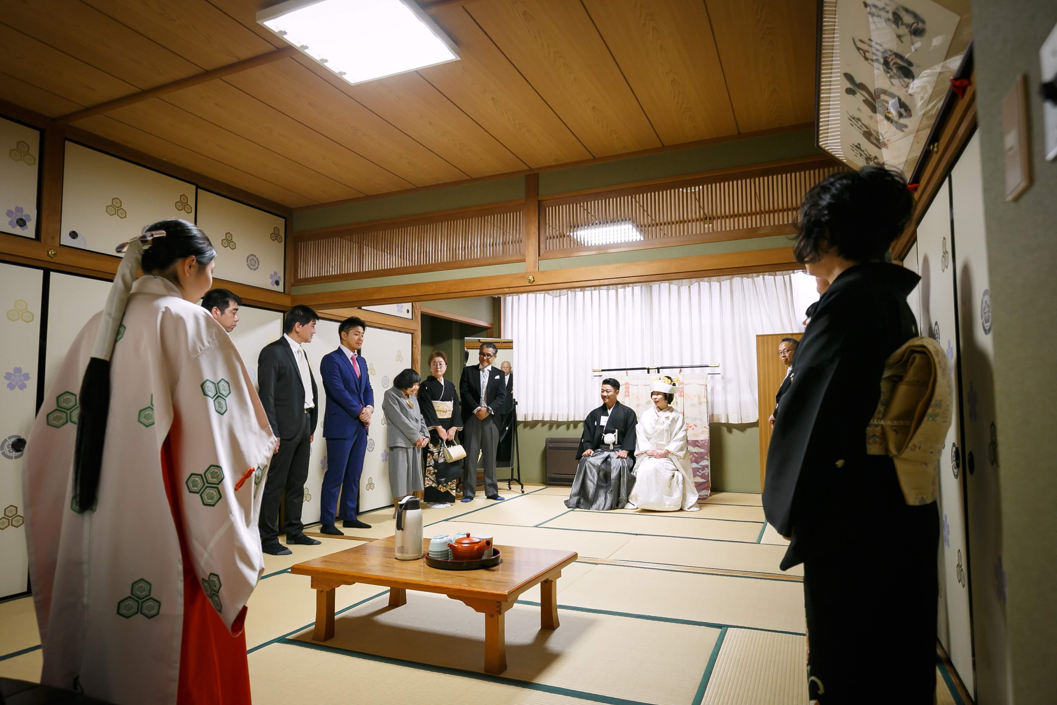 櫛田神社 結婚式 白無垢 角隠し JUNO