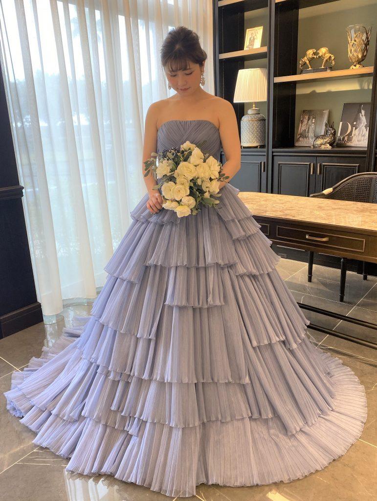 JUNO ジュノ カラードレス ブルー BLUE オリジナルドレス