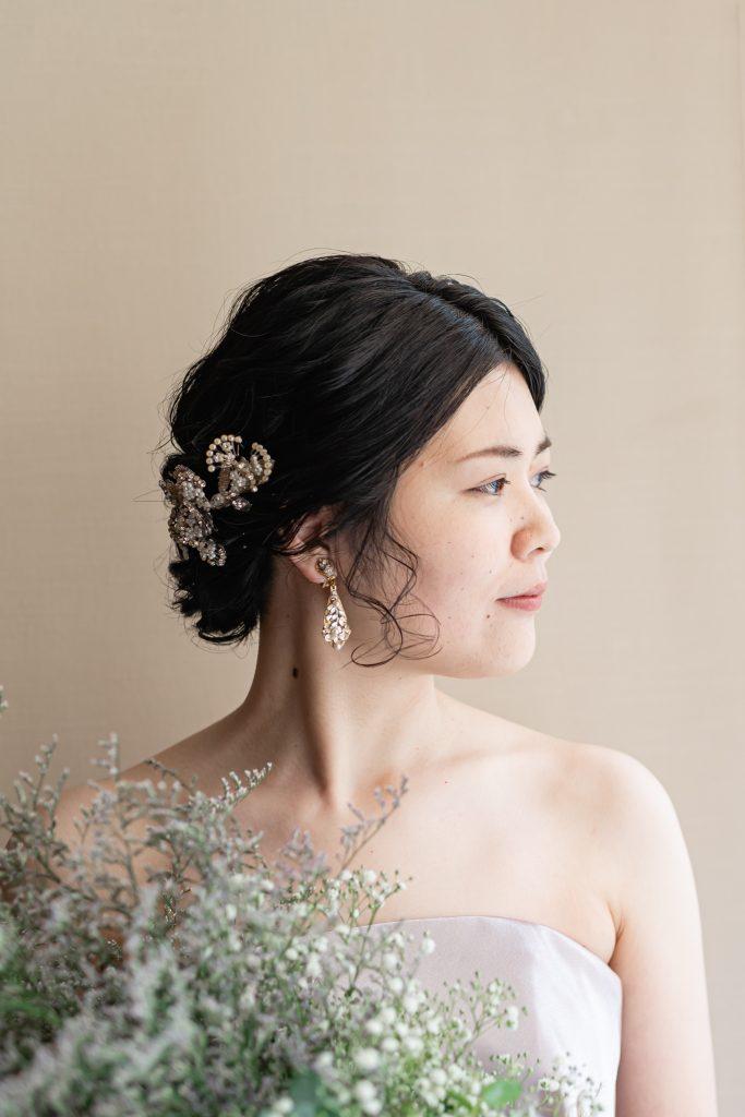 Leaf for Brides(リーフフォーブライズ)のピンクのカラードレスでナチュラルウエディング