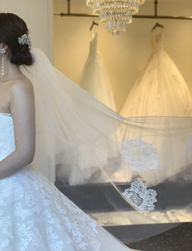 運命のドレスに合わせて選んでみては?こだわりのオリジナルベールのご紹介