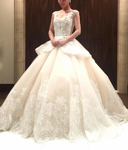 8d4505769193f INES DI SANTO イネスディサント JUNO ジュノ wedding dress weddingdress colordress  ウエディング ドレス カラードレス